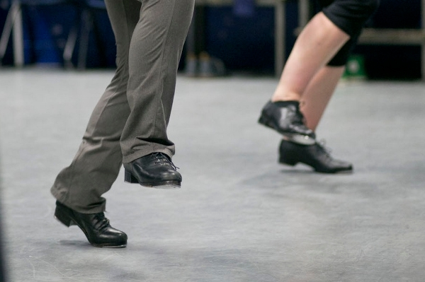 Image of tap dancers' feet