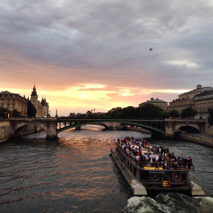 Photo of the Seine River in Paris.