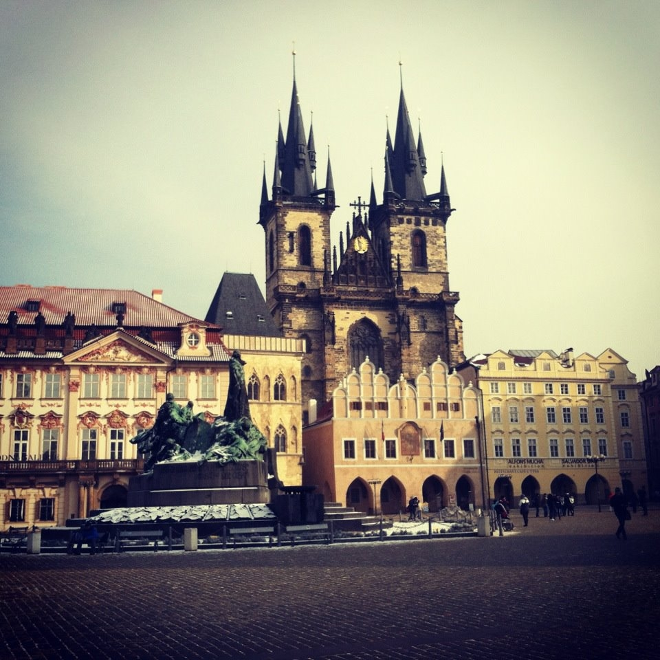 Photo of a cathedral in Prague.
