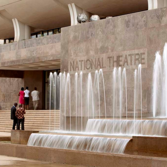 Photo of the National Theatre in Accra, Ghana