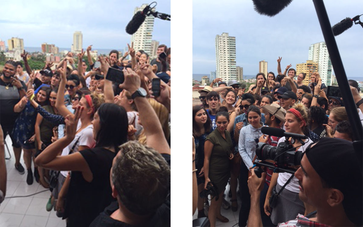 Diplo and Walshy Fire of Major Lazer in Havana, Cuba.
