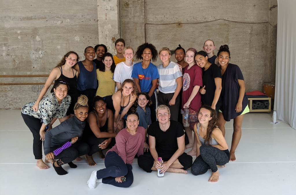Group photo of summer 2019 Berlin Dance Residency students