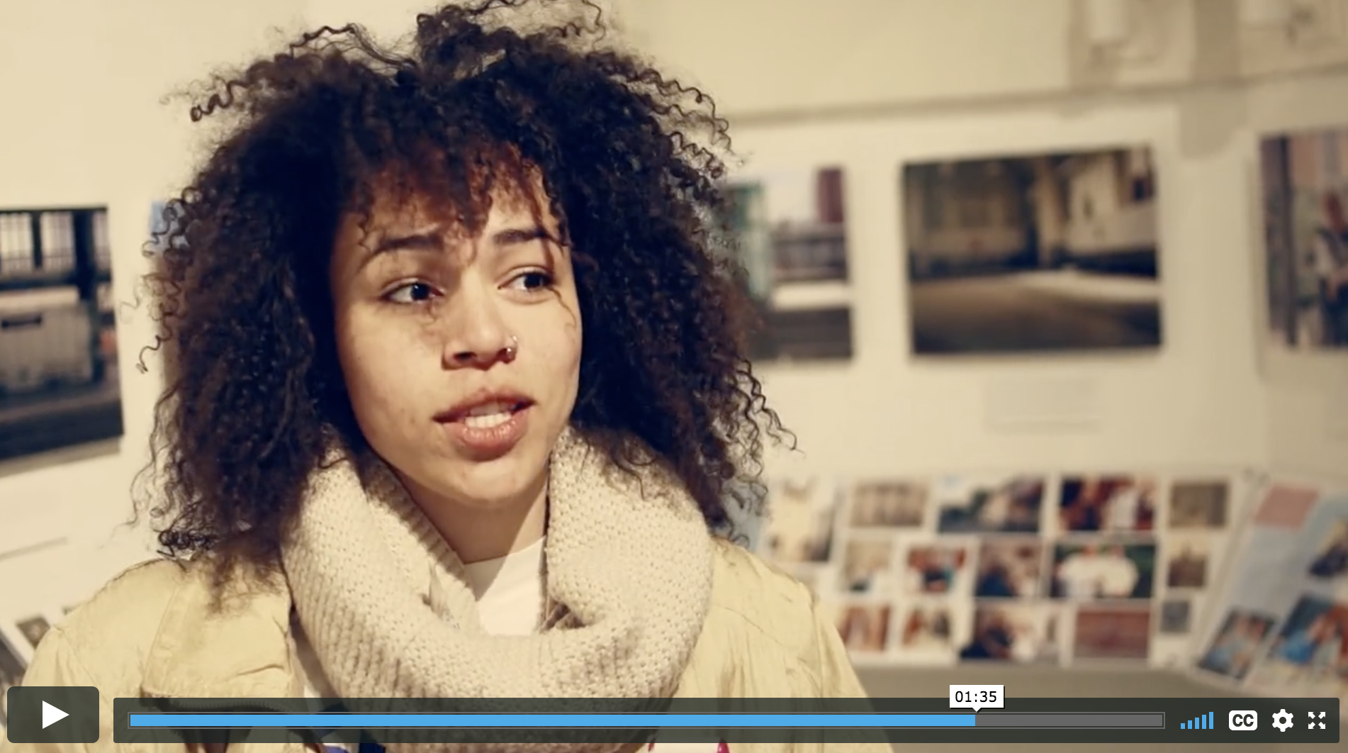 This is a video of students explaining what it's like to be an artist in New York City.
