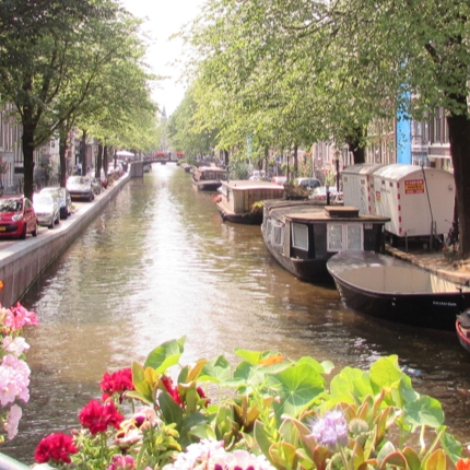 The canals of Amsterdam, Netherlands