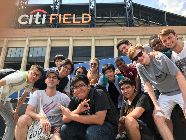 Tisch Summer High School students outside of Citi Field in Queens.