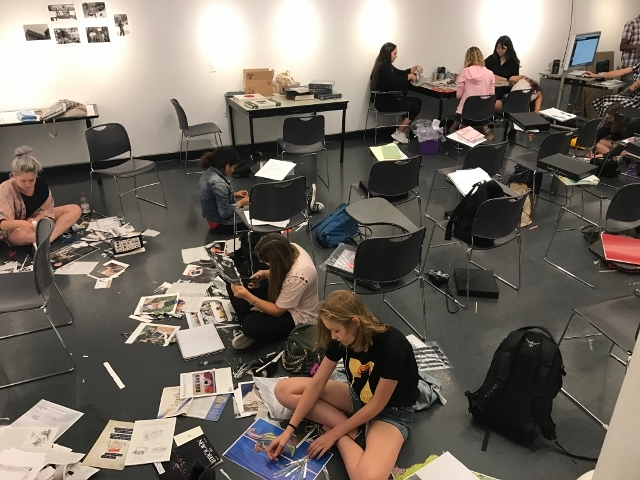 Tisch Summer High School Photography students working on their class projects.