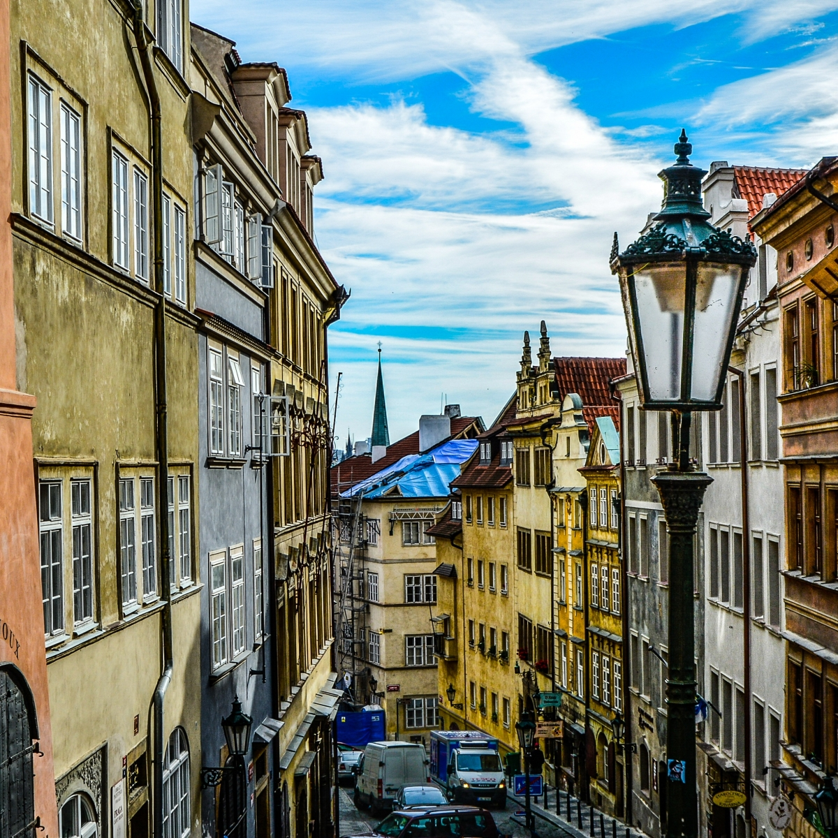 Photo of the streets of Prague.