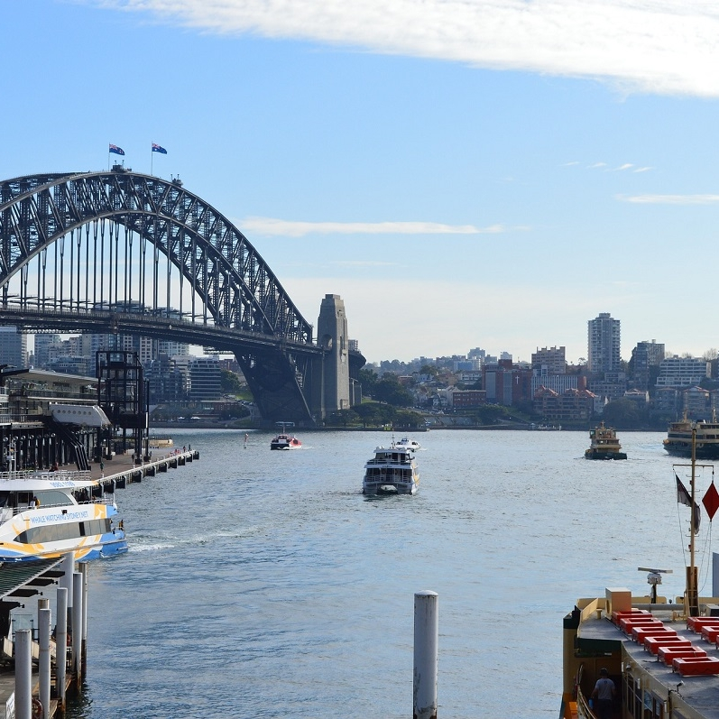 Photo of Sydney Harbor.