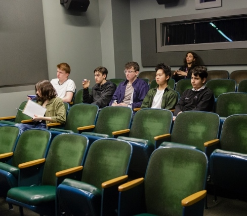 Students in Theater Classroom