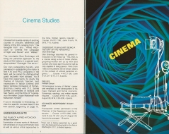1973 - Doctorate Degree in Cinema Studies Offered
