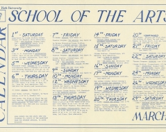 1980 - School of Arts Calendar
